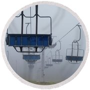 Ascent From The Mist Round Beach Towel