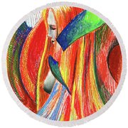 Ascent Of Water Round Beach Towel