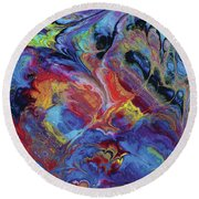 Ascetic Combustion Round Beach Towel