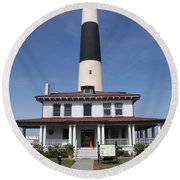 Asecon Lighthouse Round Beach Towel