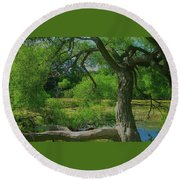 Ash Tree Round Beach Towel