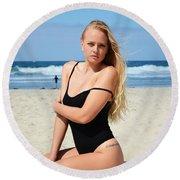 Ash304 Round Beach Towel