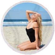 Ash308 Round Beach Towel