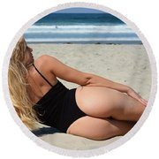 Ash321 Round Beach Towel