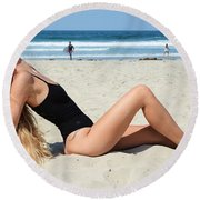 Ash324 Round Beach Towel
