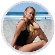 Ash329 Round Beach Towel