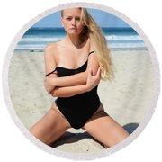Ash331 Round Beach Towel
