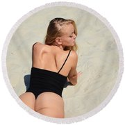 Ash341 Round Beach Towel