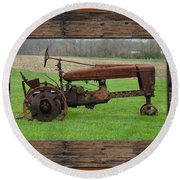 Ashes To Ashes - Rust To Rust Round Beach Towel