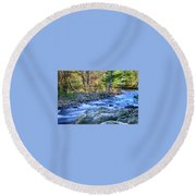 Asheville Stream Round Beach Towel