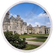 Ashford Castle, County Mayo, Ireland Round Beach Towel