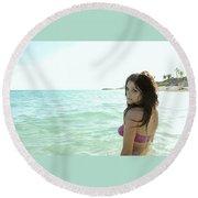 Ashley Greene Round Beach Towel