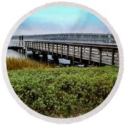Ashley River Sc Round Beach Towel