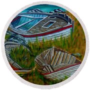 Ashore For Good Round Beach Towel