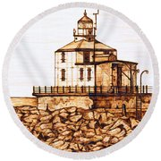 Ashtabula Harbor  Round Beach Towel