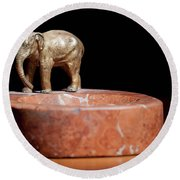 Ashtray With Elefant Round Beach Towel