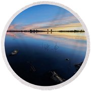 Ashurst Lake Sunrise Round Beach Towel