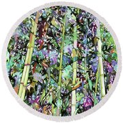 Asian Bamboo Forest Round Beach Towel
