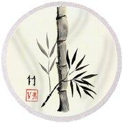 Asian Bamboo Round Beach Towel
