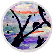 Asian Impression Round Beach Towel