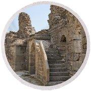 Asklepios Temple Ruins View 2 Round Beach Towel