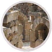 Asklepios Temple Ruins View 3 Round Beach Towel