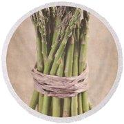 Asparagus Spears Round Beach Towel