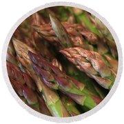 Asparagus Tips Round Beach Towel