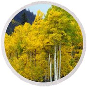 Aspen Fall Round Beach Towel