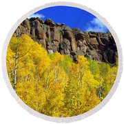 Aspen Glory Round Beach Towel