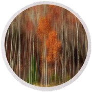 Aspen Motion II, Sturgeon Bay Round Beach Towel