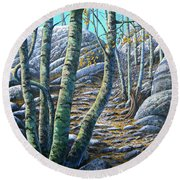 Aspen Trail Round Beach Towel