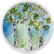 Aspen Trio Round Beach Towel