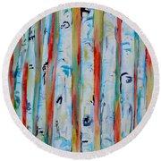 Aspens Abstract IIi Round Beach Towel