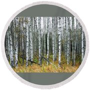 Aspens Round Beach Towel