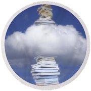 Aspirations Of Knowledge Round Beach Towel
