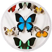 Assorted Butterflies Round Beach Towel