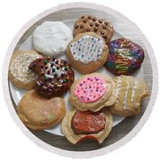 Assorted Cookies Round Beach Towel