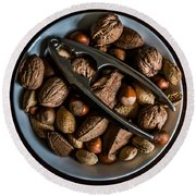 Assorted Nuts Round Beach Towel