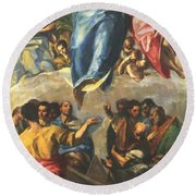 Assumption Of The Virgin 1577 Round Beach Towel