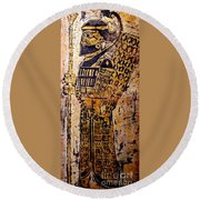 Assyrian Soldier Round Beach Towel