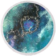Asteroid Ring Round Beach Towel