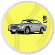 Aston Martin Db5 Round Beach Towel
