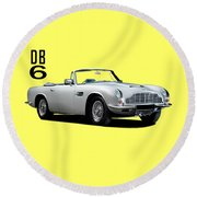 Aston Martin Db6 Round Beach Towel