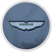 Aston Martin Logo # 1 Round Beach Towel