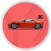 Aston Martin V12 Zagato Round Beach Towel