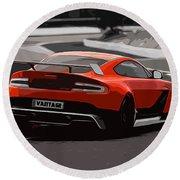Aston Martin Vantage Gt12 - Trackday Round Beach Towel