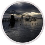Astoria-megler Bridge Round Beach Towel
