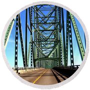 Astoria-megler Bridge Round Beach Towel
