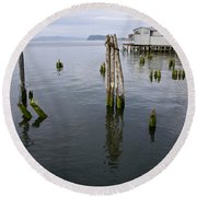 Astoria Waterfront Round Beach Towel